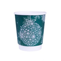 8Oz Christmas Double Wall Cup
