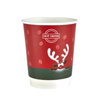 8OZ RUDOLPH CHRISTMAS DOUBLE WALL COFFEE CUP